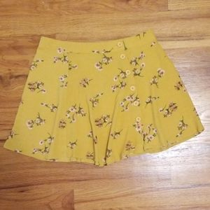 Forever 21 floral button skater skirt